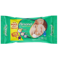 Toalha Umedecida Personal Baby 100 unidades