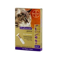 Antipulgas Advocate para Gatos Bayer Pet 4 a 8kg, 1 pipeta com 0,8ml