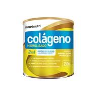 Colágeno Hidrolisado 2 em 1 Maxinutri frasco com 250g de pó para solução de uso oral, sabor manga com maracujá