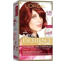 Tintura L'Oréal Imédia Excellence Creme - nº 6.66 vermelho acetinado