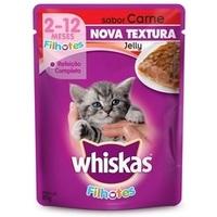 Ração para Gatos Whiskas Filhotes Sachê carne com 85g