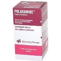 Polaramine Expectorante 0,40mg/mL + 4mg/mL + 20mg/mL, caixa com 1 frasco com 120mL de solução de uso oral