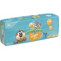 Fralda Baby Looney Tunes XXG, pacote com 30 unidades