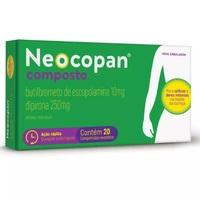 Neocopan Composto 10mg + 250mg, caixa com 20 comprimidos revestidos