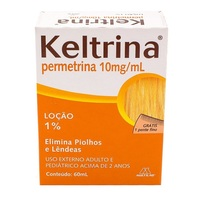 Keltrina 10mg/mL, caixa com 1 frasco com 60mL de loção de uso dermatológico