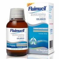 Fluimucil 40mg/mL, caixa com 1 frasco com 120mL de xarope adulto + copo medidor