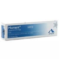 Moment 0,75mg/g, caixa com 1 bisnaga com 50g de creme de uso dermatológico