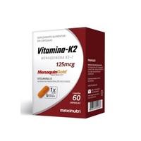 Vitamina K2 Maxinutri 125mg, caixa com 60 cápsulas