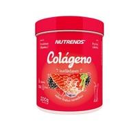 Colágeno Nutrends frutas vermelhas, pote com 200g de pó para solução de uso oral