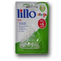Bico de Mamadeira Lillo Design Orto - 6+ meses, 1 unidade