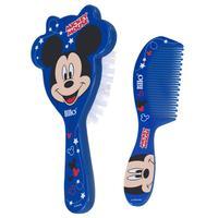 Kit Pente e Escova Lillo Disney Mickey, escova + pente, azul