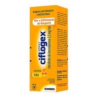 Ciflogex Colutório Spray 1,5mg/mL, caixa com 1 frasco spray com 30mL de colutório, mel