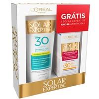 - FPS 30 com 200mL + protetor facial, FPS 30 com 50mL, grátis