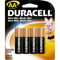 Pilha Alcalina Duracell AA básica, 4 unidades