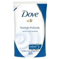 Sabonete Dove Nutrição Profunda refil, líquido, 1 unidade com 200mL