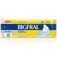 Toalha Umedecida Bigfral adulto com 40 unidades
