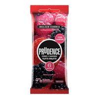 Preservativo Prudence Cores e Sabores tutti-frutti com 6 unidades