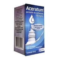 Aceratum 100mg/mL,caixa com 1 frasco gotejador com 10mL de solução de uso otológico