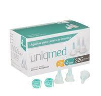 Agulha para Caneta de Insulina Uniqmed 32G, 4mm caixa com 100 unidades