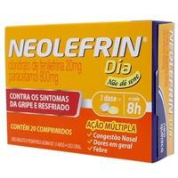 Neolefrin Dia 800mg + 20mg, caixa com 20 comprimidos