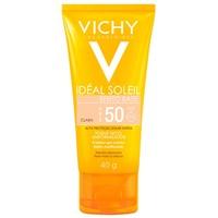 Protetor Solar Vichy Idéal Soleil Efeito Base FPS 50, clara, 40g