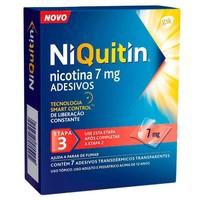 NiQuitin Adesivo 7mg, caixa com 7 adesivos transdérmicos