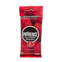 Preservativo Prudence Cores e Sabores morango com 6 unidades