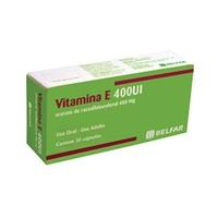 Vitamina E 400UI, caixa com 30 cápsulas