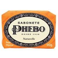 Sabonete Phebo Tradicional naturelle, barra, 1 unidade com 90g