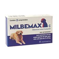 Vermífugo Milbemax C - de 5 a 25kg, caixa com 2 comprimidos
