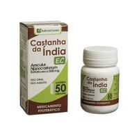 Castanha da Índia Cápsula As Ervas Curam 500mg, caixa com 50 cápsulas gelatinosas duras