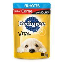 Ração Úmida para Cães Pedigree Vital Pro Filhotes Carne ao Molho, 100g