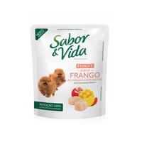Ração para Cães Sabor & Vida Sachê filhote, frango ao molho com frutas, 100g