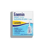 Enemin 714mg/g + 7,70mg/g, caixa com 7 bisnagas com 6,5g de solução de uso retal