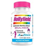 Hollyfield Mulher 500mg, 3 frascos com 90 cápsulas cada