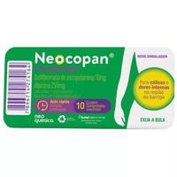 Neocopan Composto 10mg + 250mg, blíster com 10 comprimidos revestidos