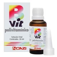 B-Vit 3mg/mL + 3mg/mL + 3mg/mL +10mg/mL + 25mg/mL caixa com 1 frasco com 30mL de solução de uso oral