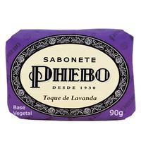 Sabonete Phebo Tradicional toque de lavanda, barra, 1 unidade com 90g