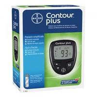 Monitor de Glicemia Contour Plus 1 unidade + 10 tiras para teste + 10 lancetas + lancetador + necessaire