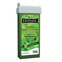 Cera Depilatória Corporal Depimiel verde, roll-on com 100g