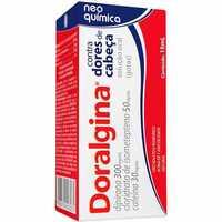 Doralgina 50mg/mL + 300mg/mL + 30mg/mL, caixa com 1 frasco gotejador com 15mL de solução de uso oral