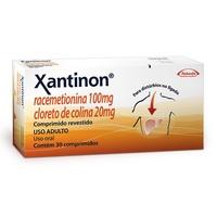 Xantinon 100mg + 20mg, caixa com 30 comprimidos revestidos