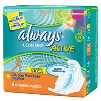 Absorvente Always Active Ultrafino Com Abas