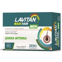 Lavitan Men Mais Hair Queda Intensa 60 Cápsulas