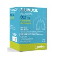 Fluimucil 600mg, caixa com 16 comprimidos efervescentes