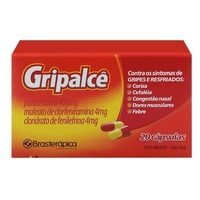 Gripalcê 400mg + 4mg + 4mg, caixa com 20 cápsulas gelatinosas duras