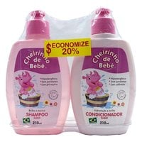 rosa, shampoo, 210mL + condicionador, 210mL
