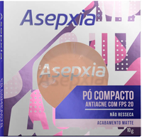 Pó Compacto Asepxia FPS20, bege claro