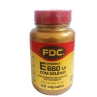 Vitamina E com Selênio FDC frasco com 60 cápsulas