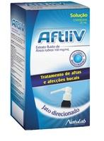 Aftliv 100mg/mL, frasco com 25mL de solução de uso bucal